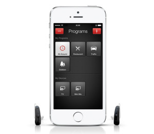Zwei ReSound LiNX mit iPhone